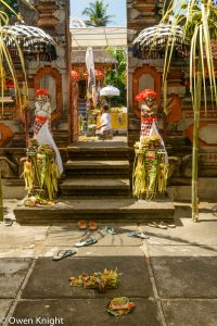 Colourful Preparations for a Balinese Temple Celebration