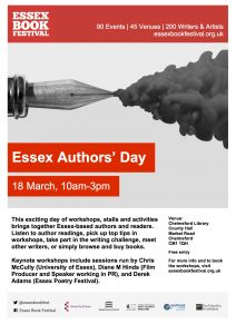 Essex Book Festival 2017: Local Authors' Day Saturday 18th March