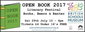 Open Book Literary Festival  (Hitchin Festival 2017) Saturday 29th July
