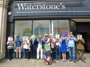 Society of Authors Herts Writers Group: Photoshoot at Waterstones Hitchin